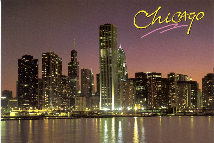 Chicago postcards for Where to stay in chicago